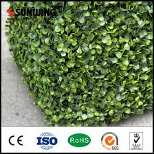 China Outdoor Artificial Green Leaf Hedge Fence Flowers Privacy Hedges China Garden Fence And Artificial Plant Price