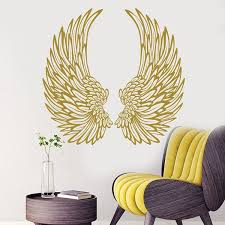 Angel Wings Wall Decal Wings Vinyl Sticker Home Decor Fashion Bedroom Decoration Diy Wallpaper Poster Wish