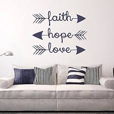 Faith Hope Love Arrow Vinyl Decal Bedroom Wall Sticker Indian Boho Decor Feather And Arrow Tribal Design Black Xs Boho Home Decor Olivia Decor Decor For Your Home And Office