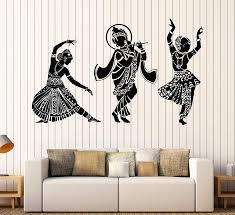 Amazon Com Vinyl Wall Decal Dance Indian Womans Devadasi Indian Dance School Hindu Stickers Large Decor 774ig Yellow Kitchen Dining