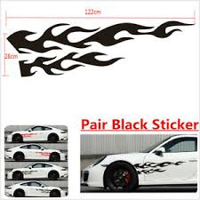 Large Flaming Body Car Truck Pair Flame Graphics Decal Decals Ebay