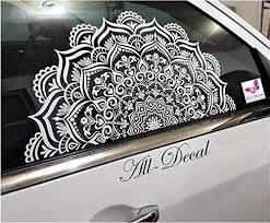 Amazon Com Mandala Car Decal Mandala Car Sticker Decorative Car Stickers 22 5 Inches Wide X 11 Inches Tall Large Handmade