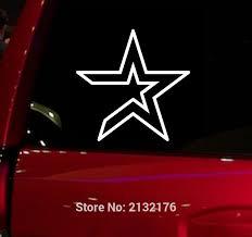 Mlb Houston Astros Auto Window Sticker Decal For Car Truck Suv Decal 5 Buy Fan Gear
