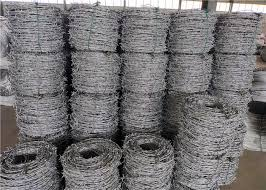 Price Meter Security Barbed Wire In Egypt Zinc Coated 15kg Coil Weight