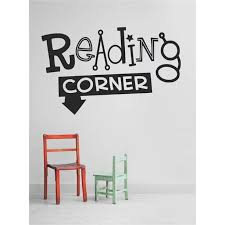 Custom Wall Decal Reading Corner School Daycare Preschool Classroom Library Teacher Kids Students Boy Girl Wall Sticker 10 X20 Walmart Com Walmart Com