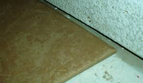 floor tile and wall gap need filling