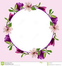 Postales Con Las Flores De La Magnolia Acuarela Hecha A Mano Para