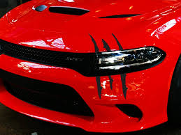 Dodge Charger Headlight Claw Scratch Mark Decal Graphic Sticker Ztr Graphicz