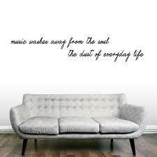 Music Washes Away From The Soul Wall Decals Home Decor Wall Decals