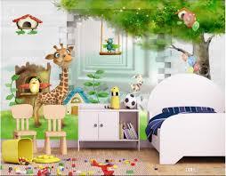 3d Room Wallpaper Custom Photo Non Woven Mural 3d Giraffe 3d Cartoon Children Room Kids Room Mural Wallpaper For Walls 3 D Free High Res Wallpapers Free High Resolution Desktop Wallpaper From