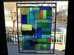 contemporary cool stained glass window