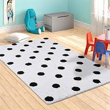 Livebox Kids Play Mat Hopscotch Area Rug Runner 2 X 5 Soft Plush Playroom Carpet Non Slip Childrens Numbers Educational Fun Throw Rugs For Girls Bedroom Decor Nursery Best Shower Gift Pink Rugs