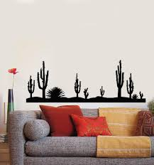 Vinyl Wall Decal Nature Cactus Sandy Desert Plant Landscape Stickers M Wallstickers4you
