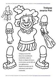 Trekpop Zwarte Piet Knutselen Sinterklaas Sinterklaas Zwarte Piet