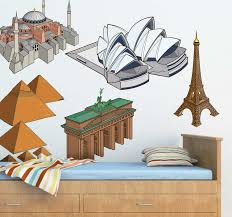 Famous Landmarks Decal Collection Tenstickers