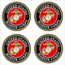 Amazon Com 4 2 U S Marine Corps Usmc Logo Car Decal Sticker Vinyl American Usa Merica United States Marines Helmet Toolbox Hardhat Automotive