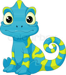 Cartoon Chameleon On A White Stock Vector Colourbox