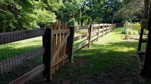 48 Tall Ranch Rail With Black Wire Mesh Trudeau S Fence Co Facebook