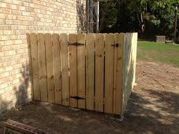Finished Fence Around Air Conditioner With Gate Pallet Garden Railings Outdoor Air Conditioner Cover Outdoor