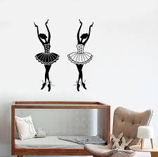 Vinyl Wall Decal Cartoon Ballet Studio Dancers Ballerinas Girl S Room Wallstickers4you