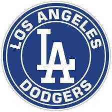 Los Angeles Dodgers B Vinyl Die Cut Decal Sticker 4 S