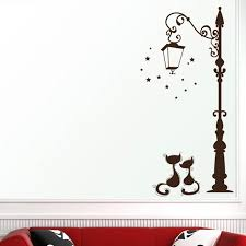 Cute Cat Fashion Wall Stickers Funny Cat Stickers Living Room Decor Tv Wall Decor Child Kids Bedroom Vinyl Home Decor 1pc Wall Stickers Aliexpress