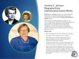 Dorothy Johnson Behavioral System