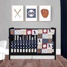 baseball crib bedding for baby boy