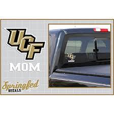 Amazon Com Springfed Decals Ucf Knights Mom W Ucf Logo Vinyl Decal Central Florida Car Truck Sticker Automotive