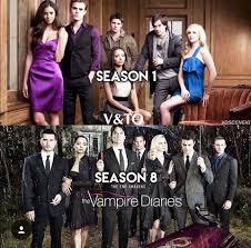 The Vampire Diaries season 1 and season 8