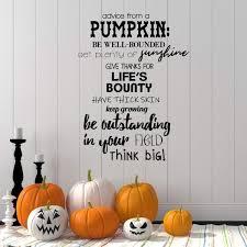 Advice From A Pumpkin Quote Autumn Season Vinyl Wall Decal Home Decor Customvinyldecor Com
