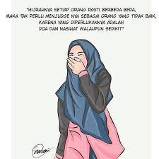 kartun muslimah hijrah advertisements gambar lucu kartun