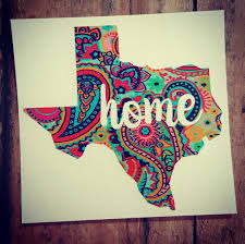 Paisley State Decal State Of Texas Decal Texas Home Decal Etsy