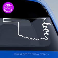 Amazon Com Oklahoma State Love Decal Ok Love Car Vinyl Sticker Add A Heart Over Oklahoma City Tulsa Norman Broken Arrow Lawton Edmond Enid Made With Outdoor Vinyl Handmade