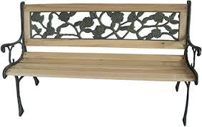3 seater wooden slat garden bench seat