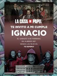 20 Invitacion Cumpleanos La Casa De Papel 480 00 En Mercado Libre