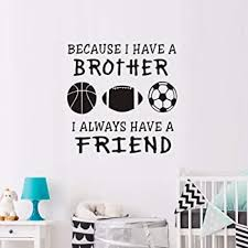 Amazon Com Brother Rules Wood Sign Boys Room Decor Playroom Wall Sign Brother Sign Wall Art For Brothers Nursery Decor Wall Sign Brother Rules 9 X 18 Home Kitchen