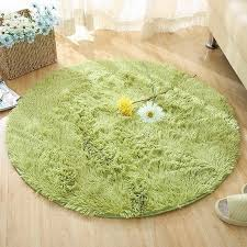 Round Rug Fluffy Carpets For Living Room Decor Green Carpet Kids Room Long Plush Rugs For Bedroom Shaggy Area Rug Modern Mat Carpet Aliexpress