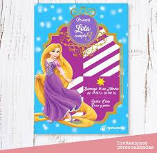 Invitaciones Rapunzel Cumpleanos Digital Digital 300 00 En