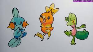 Cách Vẽ Bộ 3 pokemon Khởi Đầu Vùng Hoenn đơn giản và đầy màu sắc trong 2020
