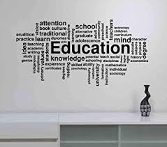 Education Word Cloud Wall Decal Study Learn Knowledge Science Vinyl Sticker Inspirational Quote Art Decorations For School Classroom College Office Decor Ed16 Amazon Com