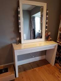 ikea malm dressing table mirror and