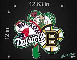 Amazon Com Bermuda Shorts Graphics Boston Sports Fan New Shamrock Logo Single 12 Sticker Decal Vinyl Bruins Patriots Celtics Red Sox Automotive