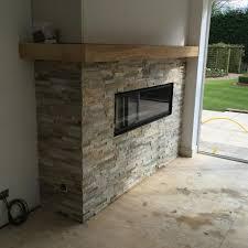 oyster slate stone fireplace