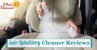 car and auto upholstery cleaner reviews