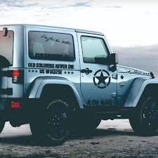 12pcs Car Door Side Vinyl Decal Auto Pentagram Soldiers Sport Stickers For Jeep Wrangler Jk Tj Jl Yj Auto Body Decor Accessories Aliexpress
