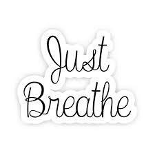 Just Breathe Inspirational Quote Stickers 2 5 Vinyl Decal Laptop Decor Window Vinyl Decal Sticker Walmart Com Walmart Com