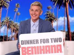 ellen degeneres win dinner for two at