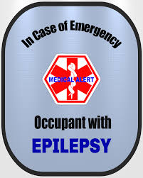Epilepsy Decal Medical Alert Safety Sticker Safety Awareness Products