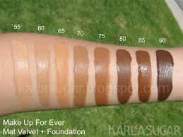 makeup forever matte velvet foundation